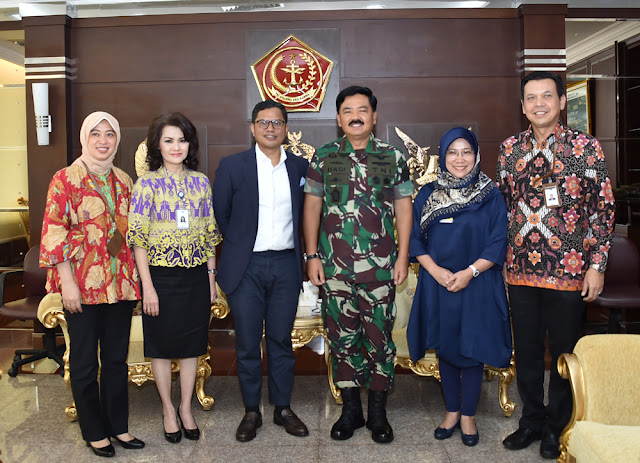 Panglima TNI Terima Audiensi Dirut PT. Garuda Indonesia