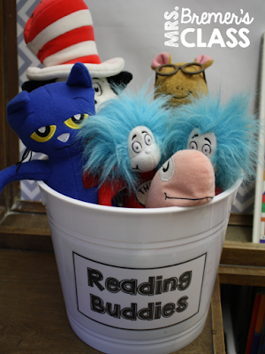 Reading Buddies in our class library so students can read with them! Daily 5 activities and ideas for Second Grade