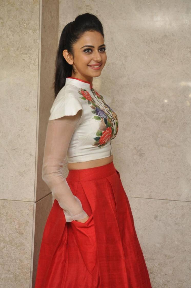 Rakul Preet Singh Stills In White Dress