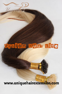 Italy keratin virgin remy stick hair extensions