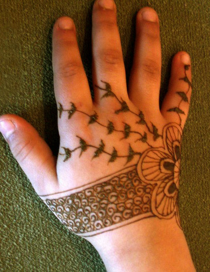 Bracelet Design Back Hand Mehndi For Kids! Art Magazine