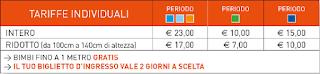 Tariffe Italia in Miniatura 2016
