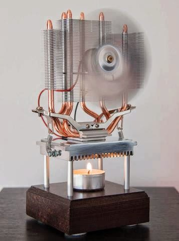 Candle Light Powered Fan