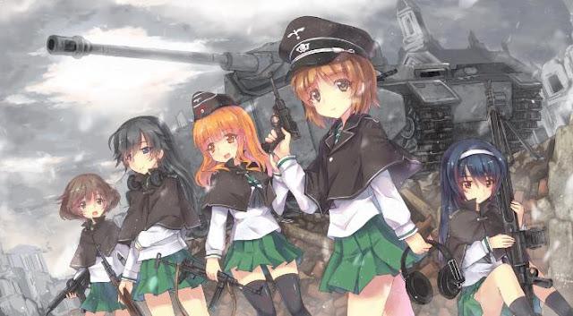Girls und Panzer - Daftar Anime Sport terbaik Sepanjang Masa