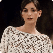 Suéter con manga Kimono a Crochet