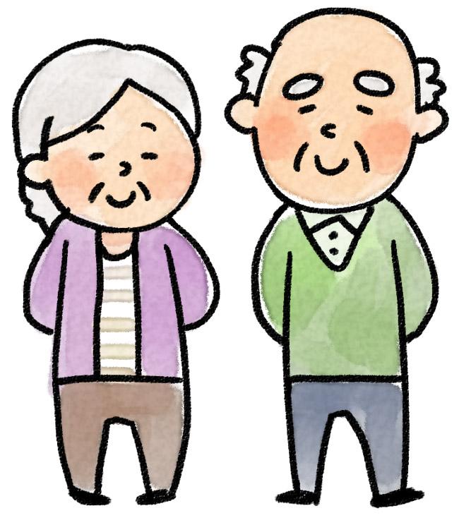 おじいさん おばあさんのイラスト ゆるかわいい無料イラスト素材集