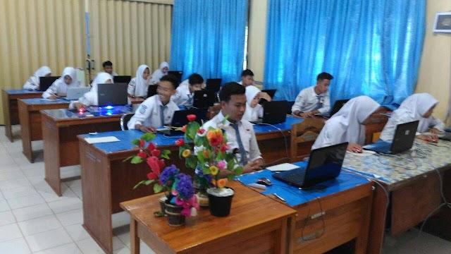 Suasana Simulasi UNBK I SMAN 14 Bandar Lampung