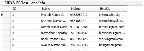 Display Data in HTML Table from Database using Asp net in C#, VB NET