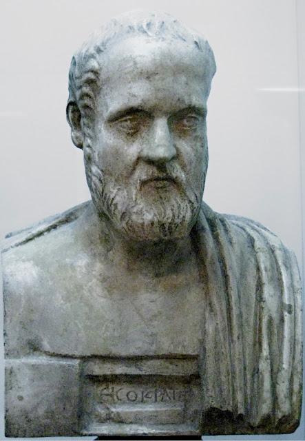 Ρωμαϊκό αντίγραφο προτομής του Ισοκράτη (Νεάπολη, Εθνικό Αρχαιολογικό Μουσείο)