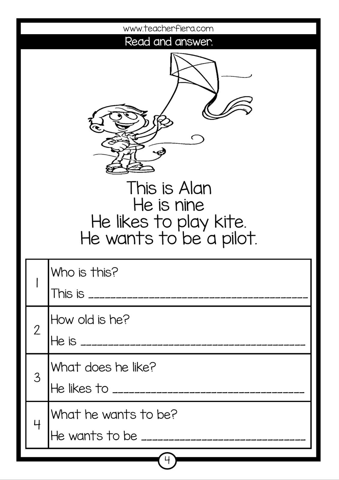 Teacherfiera Reading Comprehension Read Amp Answer
