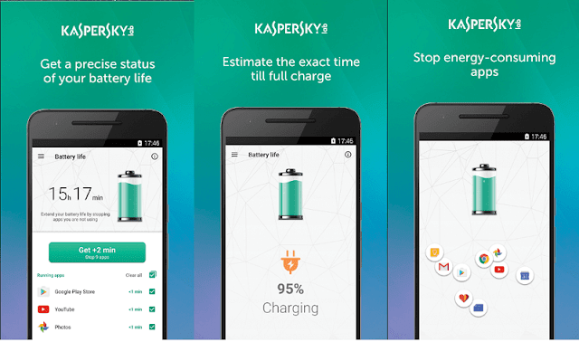 تطبيق جديد للهواتف من شركة Kaspersky للحفاظ على البطارية Battery Life