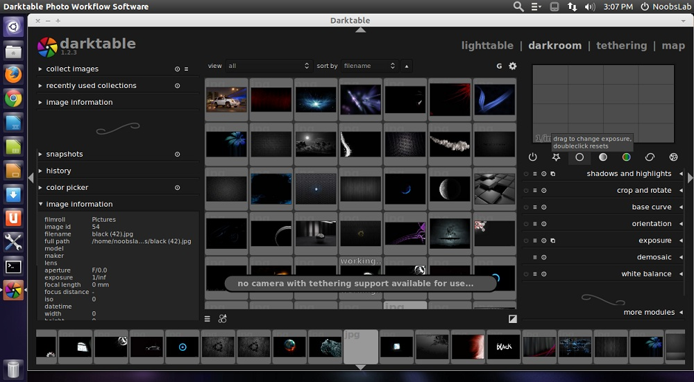 Darktable 1 2 3 Opensource Photography Application for Ubuntu/Linux