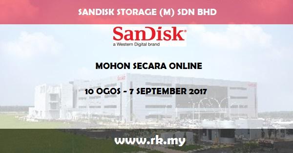 Jawatan Kosong di Sandisk Storage Malaysia Sdn Bhd