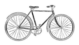 bike bicycle artwork illustration old digital image