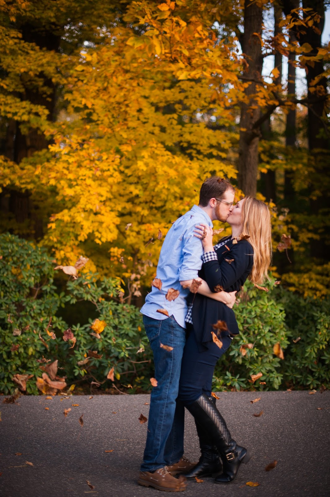 Fall Engagement Photos Longwood Gardens