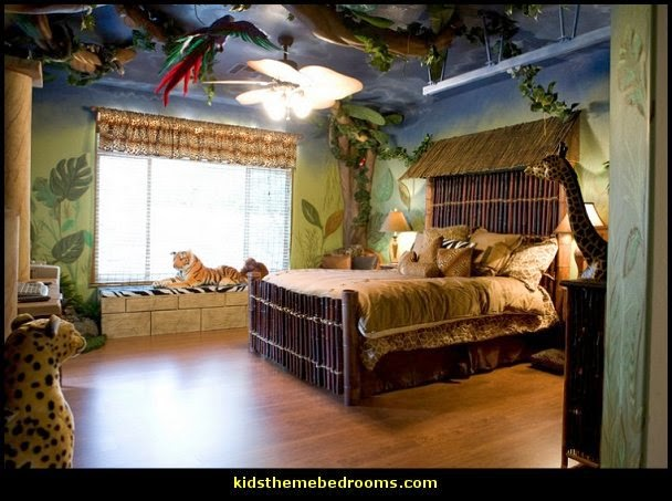 Charmant Jungle Theme Bedrooms   Safari Jungle Themed Wild Animals   Jungle Animals  Wild Safari Bedroom Ideas