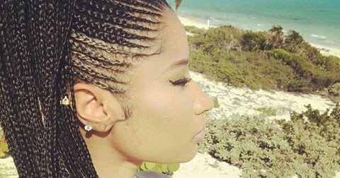Nicki Minaj Stuns In Ghana Braids Hairstyle See Photos