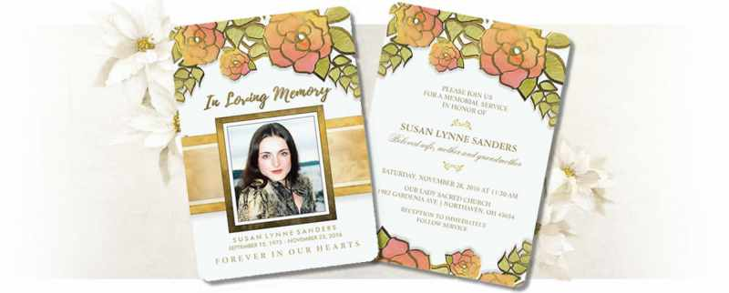 Shop Beautiful Custom Memorial Invitations Julie Alvarez Designs
