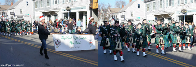 Banda de Música Escocesa en el Desfile de Acción de Gracias de Plymouth
