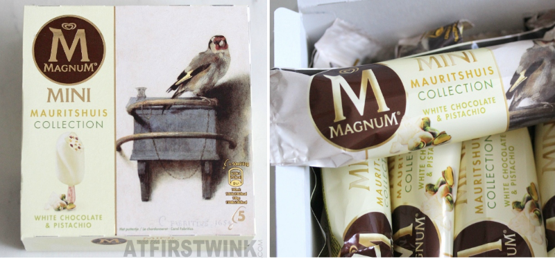 Review Magnum Mini Mauritshuis collection white chocolate and pistachio