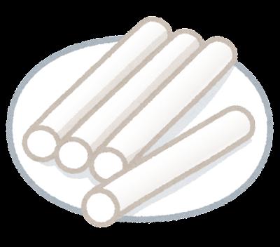 棒状の餅のイラスト