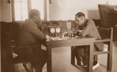 Partida de ajedrez r. Josep Vallvé contra Àngel Ribera, Torneo Internacional de Reus-1936
