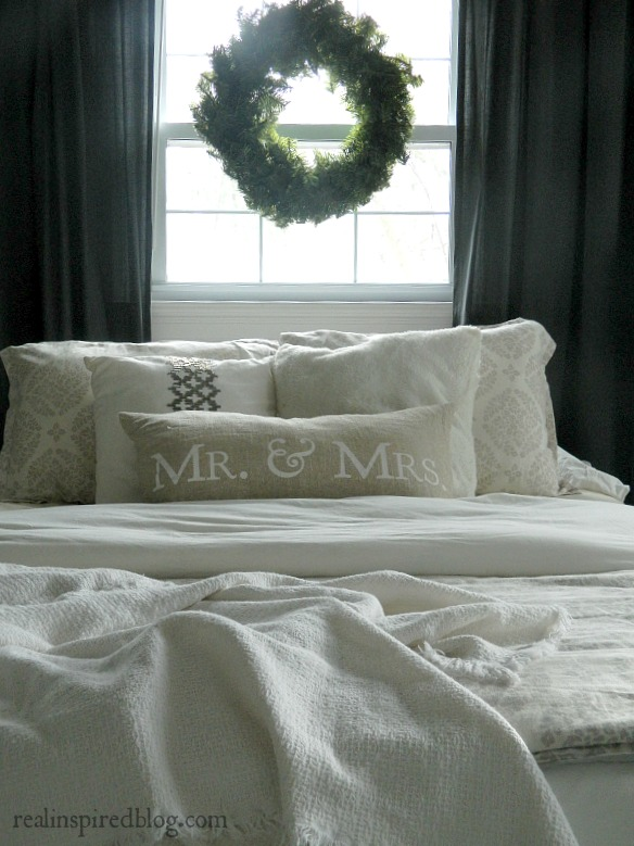 Rustic Christmas Home Tour 2015: Master Bedroom and wreath