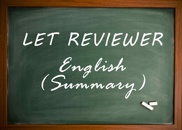 LET Reviewer English