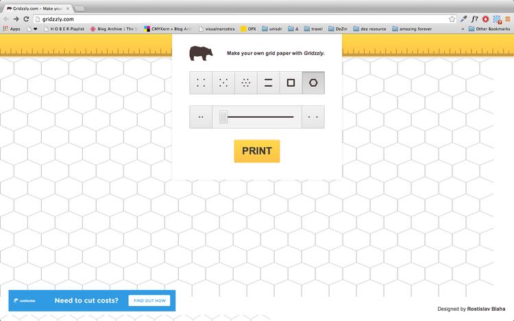 موقع لصناعة وطباعة ورق مسطّر بأشكال متعددة مجانا
