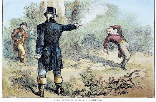 Postcard Thursday: Depicting the Hamilton-Burr Duel