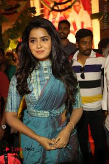 Actress Anupama Parameswaran Stills in Stylish Saree at Shatamanam Bhavathi Audio Launch  0018.JPG