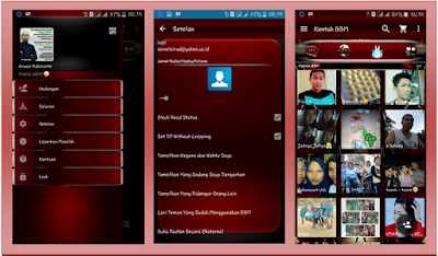 BBM MOD Red Millennium Themes New v2.13.1.14 APK
