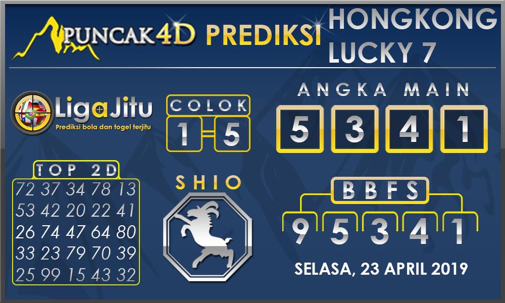 PREDIKSI TOGEL HONGKONG LUCKY7 PUNCAK4D 23 APRIL 2019