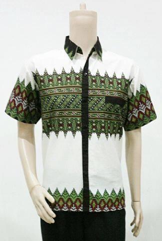 Batik Bagoes Solo Baju Batik Pria Motif Tenun Kombinasi