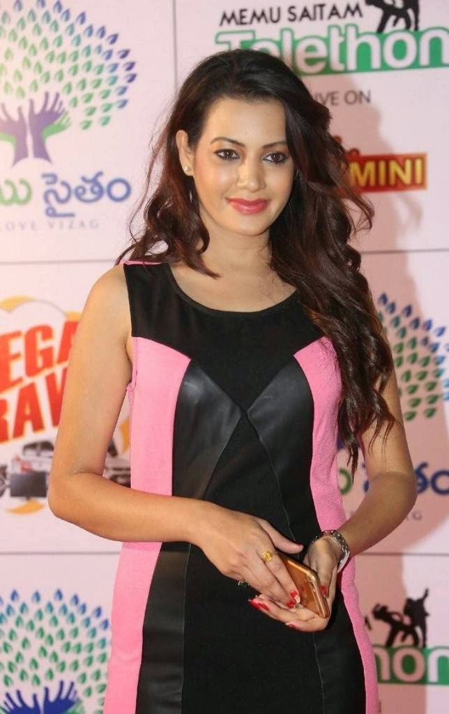 Actress Deeksha Panth Latest Photo Gallery, Deeksha Panth Hot HD Pics in Pink Dress