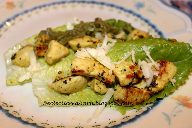 Eclectic Red Barn: Easy Turmeric Chicken in Lettuce Leaves