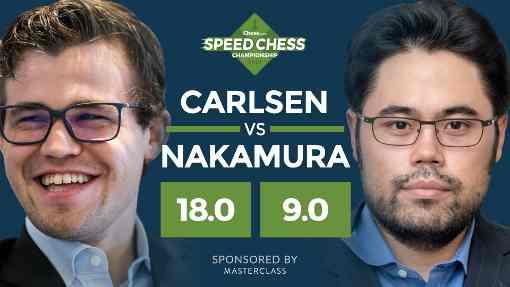 La finale entre Carlsen et Nakamura du 3 janvier 2018 - Photo © chess.com