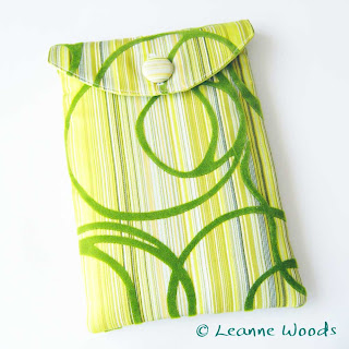 Designer handmade case for amazon kindle, kobo, nook and nexus 7 in lemon yellow and lime green citrus cotton available from Leanne Woods Designs on Etsy