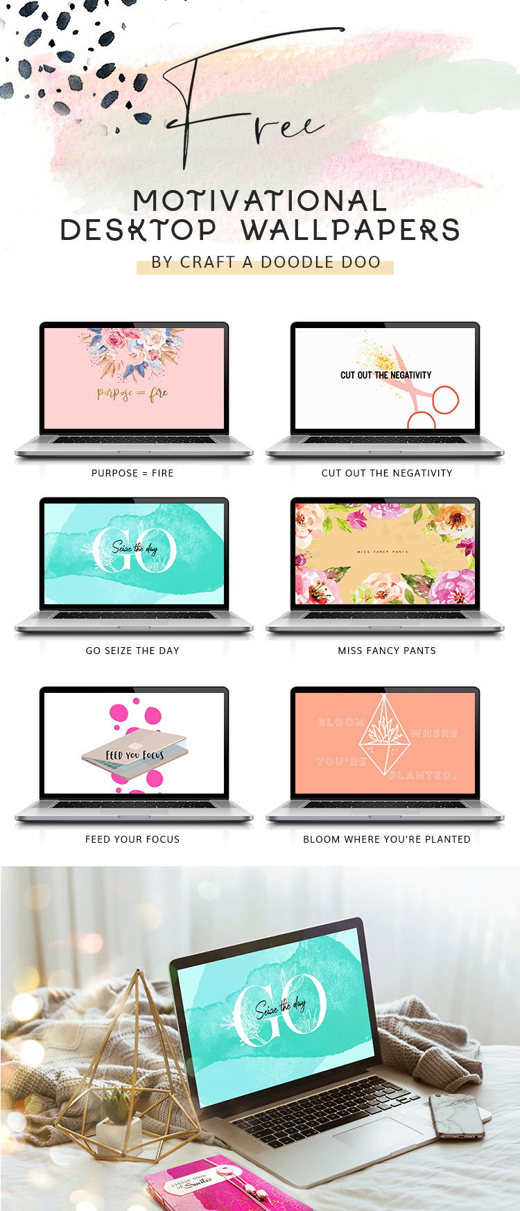 Free Motivational Wallpapers by Craft A Doodle Doo #free #girly #inspirational #desktop #wallpapers #patterns #motivational #quotes #graphics #download