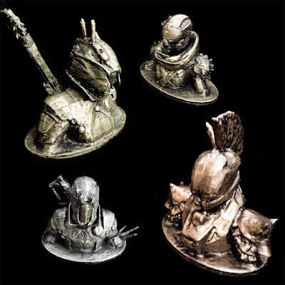 Destiny Guardian Warlock Hunter Titan Custom Busts in Brass, Bronze, Copper, Aluminium or Iron