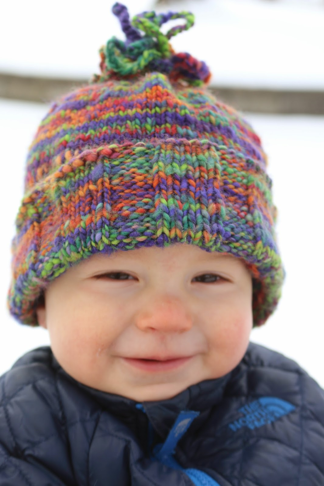 ChemKnits: What's This? A Wide Brim Baby Hat Knitting Pattern