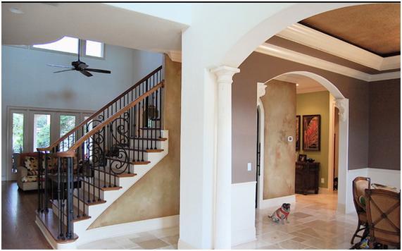 barandillas de forja en escaleras de casas es la que este organizadas con perfiles de hierro en estilo forja de herrera corresponde al conjunto de