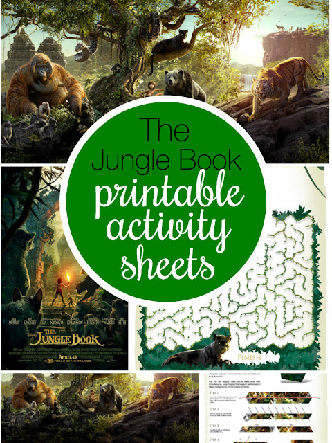 Disneys the Jungle Book Movie Free Printable Activity Book.