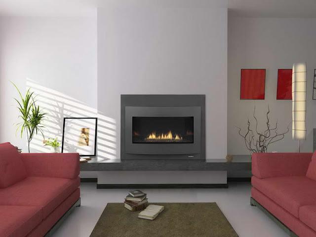Modern Fireplace Hearth Design for Living Room