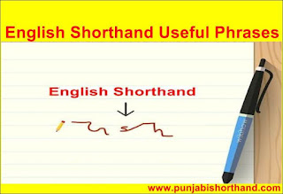 English Shorthand Useful Phrases