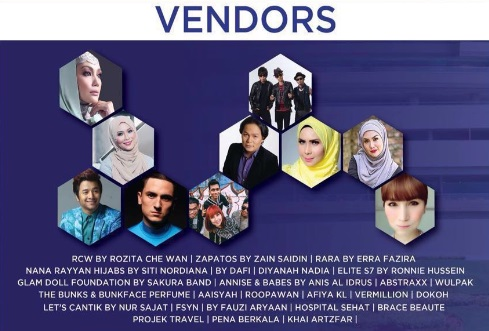 Vendor yang akan turut serta didalam bazar jualan Hari NBOS 2016