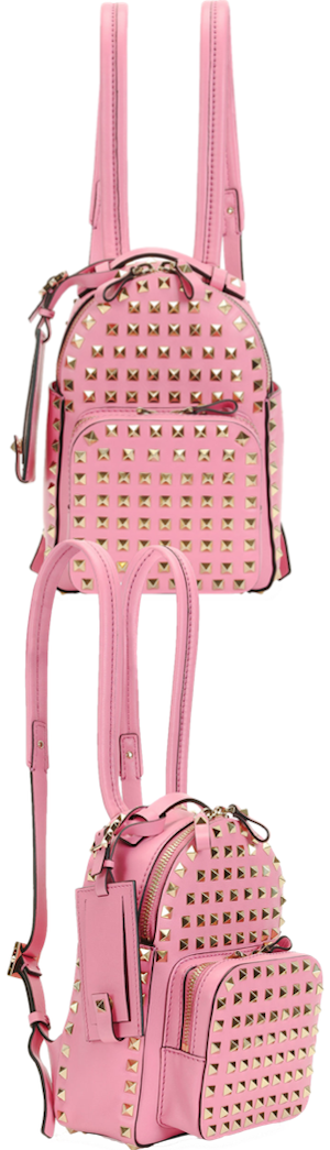 Valentino Rockstud Mini Backpack shown in Pink