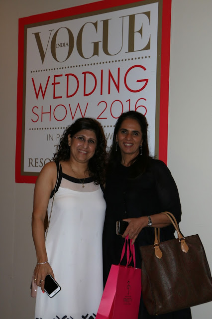 Oona Dhabhar, Marketing Director, Conde Nast India with designer Anita Dongre at Day 3 of Vogue Wedding Show 2016 at Taj Palace, New Delhi wedding fashion