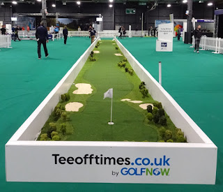 Long Putt Challenge at the American Golf Show in Manchester