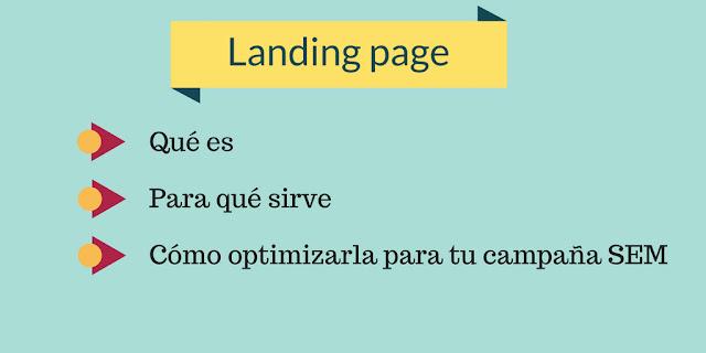 Qué es una Landing Page y para qué sirve en SEM